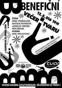Jarní benefiční večer Tvaru: plakát