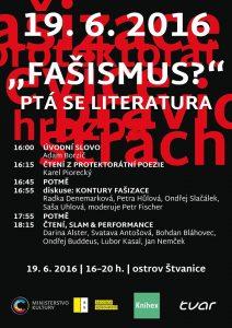 Fašismus?, ptá se literatura: plakát