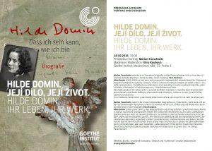 Hilde Domin: její dílo, její život: plakát