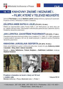 Knihovny známé i neznámé I – Filmy, které v televizi neuvidíte: plakát