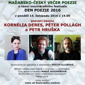 Maďarsko-český večer poezie: plakát