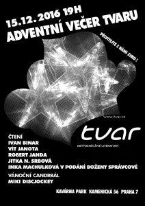 Adventní večer Tvaru: plakát