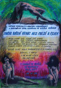 Večer boření hranic mezi poezií a filmem: plakát