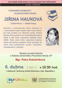 Jiřina Hauková: Záblesky života: plakát